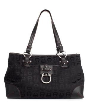 Etienne Aigner Handbag, A Logo Tote - Handbags