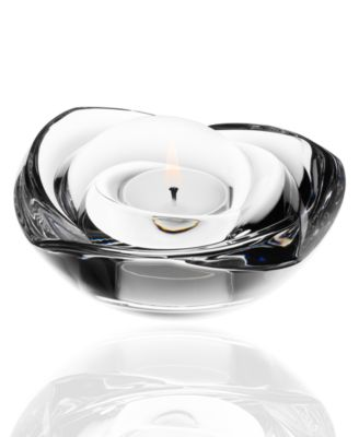 Orrefors Candle Holder, Rose Votive