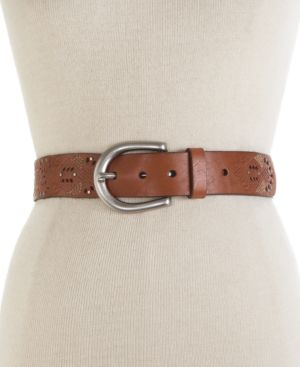Fossil Belt, Perforated Leather - Handbags
