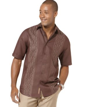 Cubavera Shirt, Patterned Panel