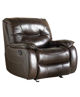 Dante Leather Glider Recliner Furniture Macy S