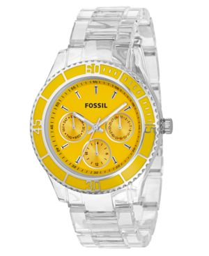 Fossil Watch, Women's Clear Plastic Bracelet ES2609