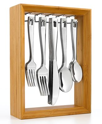 Cambridge Flatware, Portrait Mirror 20 Piece Set with Rack