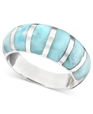 Sterling Silver Ring, Larimar