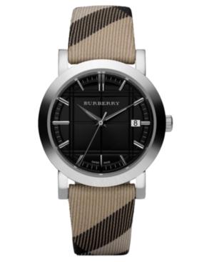 Burberry Watch, Nova Check Fabric Strap 38mm BU1772