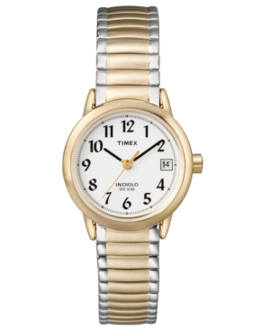 Timex Watch, Women's Two Tone Stainless Steel Bracelet 25MM T2H381UM
