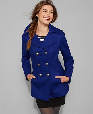 Esprit - Double Breasted Pea Coat  from macys.com