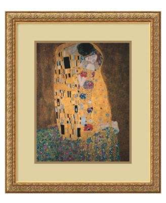 Amanti Art Wall Art, The Kiss Framed Art Print by Gustav Klimt