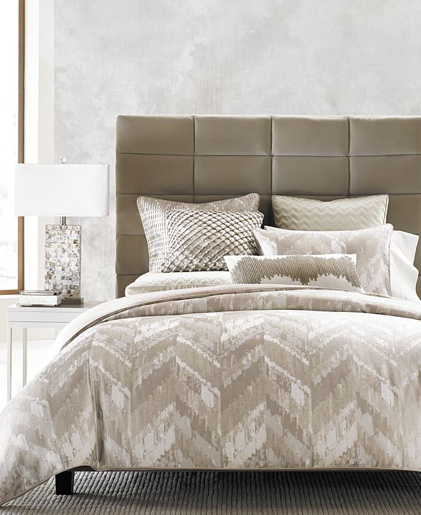 Hotel Collection CLOSEOUT! Distressed Chevron Duvet Covers, Created for Macy's