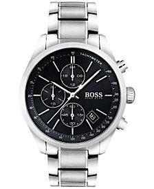 BOSS Hugo Boss Men's Chronograph Grand Prix Stainless Steel Bracelet Watch 44mm 1513477