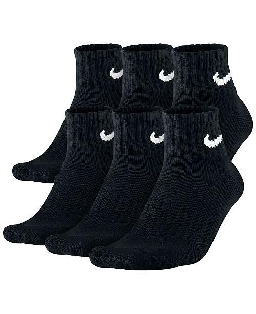 Men's Cotton Quarter Socks 6-Pack