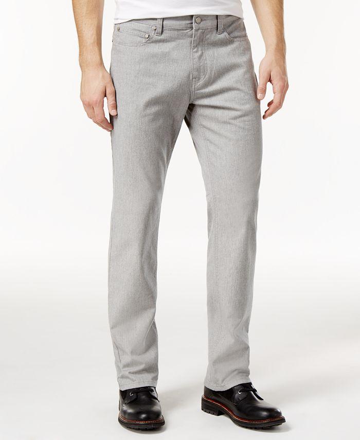 Alfani - Men's Straight-Fit Gray Wash Jeans
