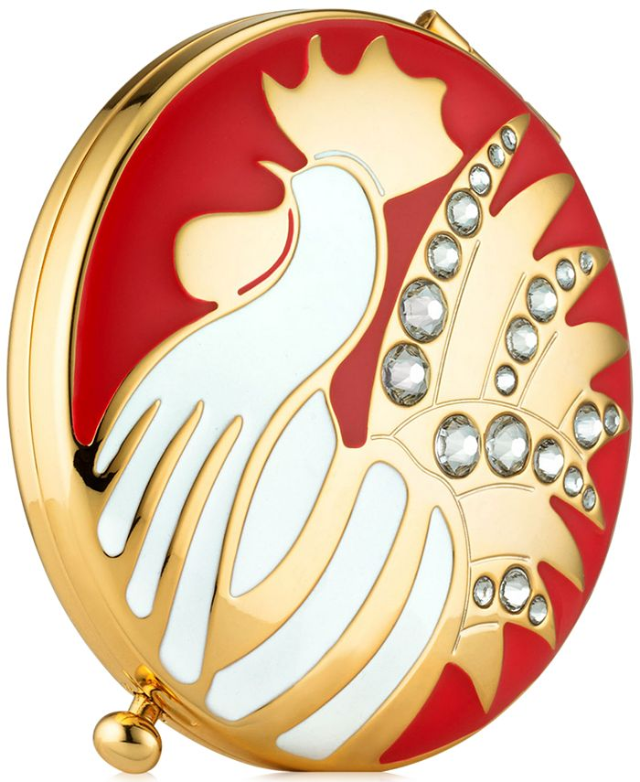 """Estée Lauder - Gold-Tone """"Year of the Rooster"""" Compact"""
