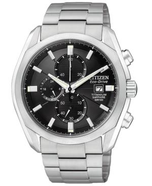 Citizen Men's Eco-Drive Titanium Bracelet Watch 43mm CA0020-56E