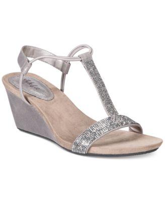 macy's platform wedge sandals