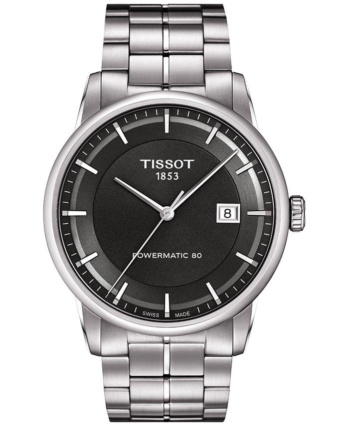 Tissot - Men's Swiss Automatic T-Classic Luxury Powermatic 80 Stainless Steel Bracelet Watch 41mm T0864071106100