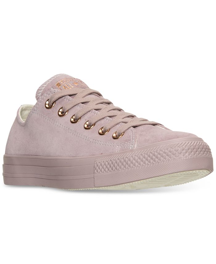 Converse - Women's Chuck Taylor Pastel Leather Ox Casual Sneakers from Finish Line