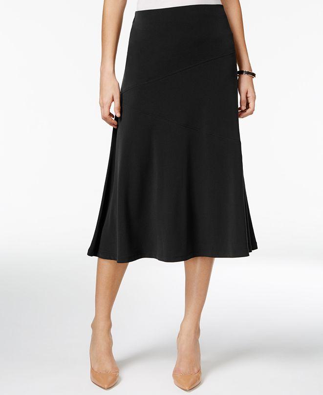 JM Collection Diagonal-Seam Midi Skirt, Created for Macy's