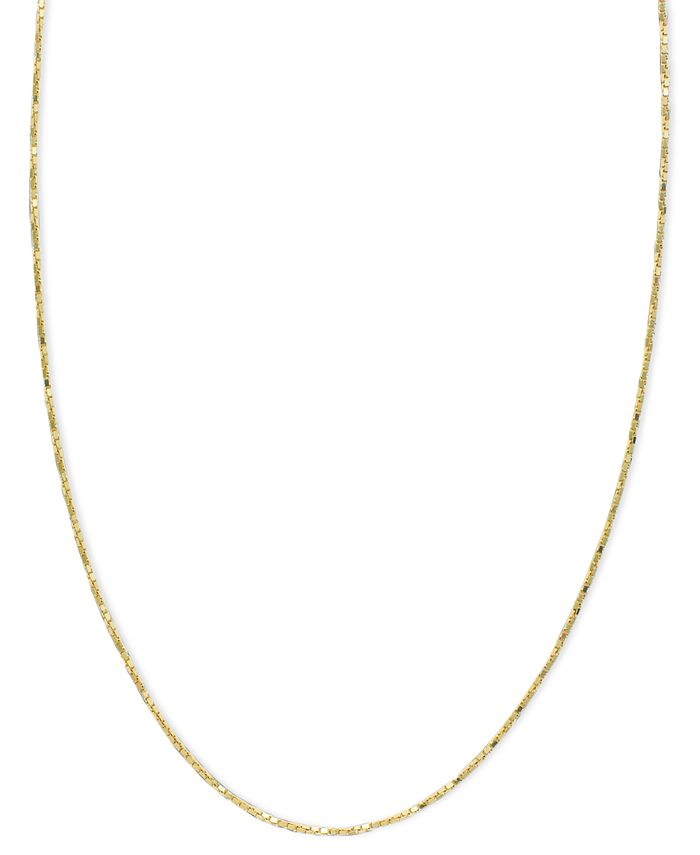 Macy's - 14k Gold Necklace, Box Chain