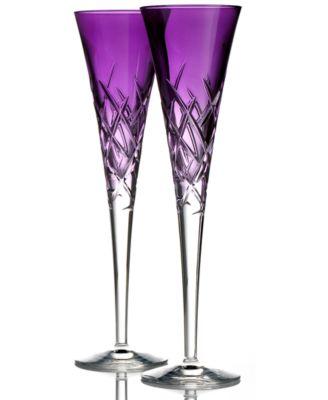 Vera Wang Wedgwood Set of 2 Duchesse Encore Lavender Toasting Flutes