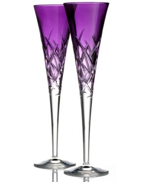 Vera Wang Flutes, Set of 2 Duchesse Encore Lavender