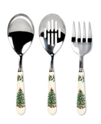 Spode Serveware, Christmas Tree 3 Piece Serving Set