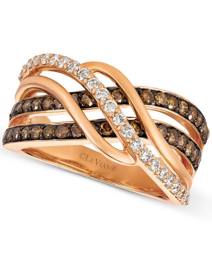 Le Vian - Diamond Twist Ring (1 ct. t.w.) in 14k Rose Gold