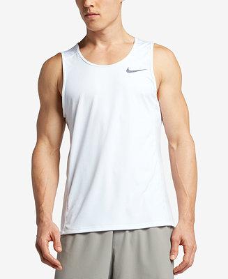 Nike Men's Dry Running Tank Top & Reviews - T-Shirts - Men ...