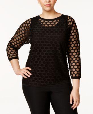 Black Sheer Blouse: Shop Black Sheer Blouse - Macy's