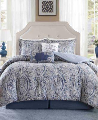 Stella 6PC Paisley Print Full Comforter Set