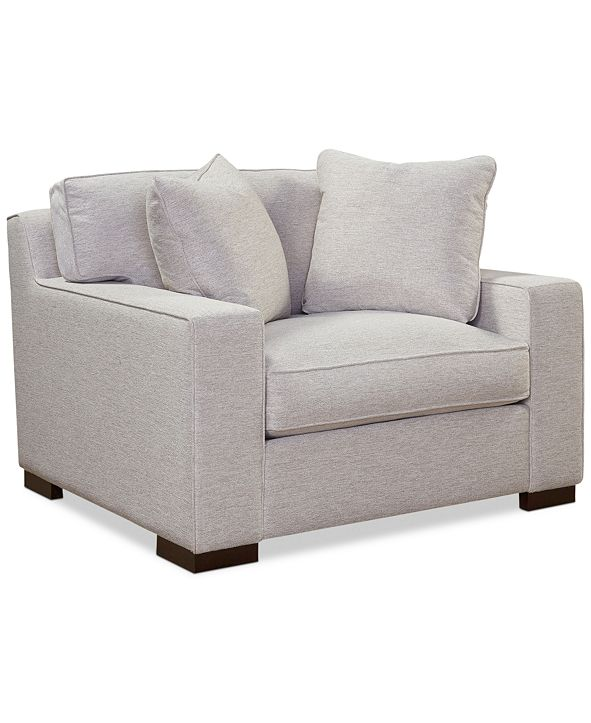 "Furniture CLOSEOUT! Bangor 49"" Chair and a Half, Created for Macy's"