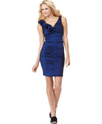 Xscape Dress, Sleeveless Ruched Cocktail Dress