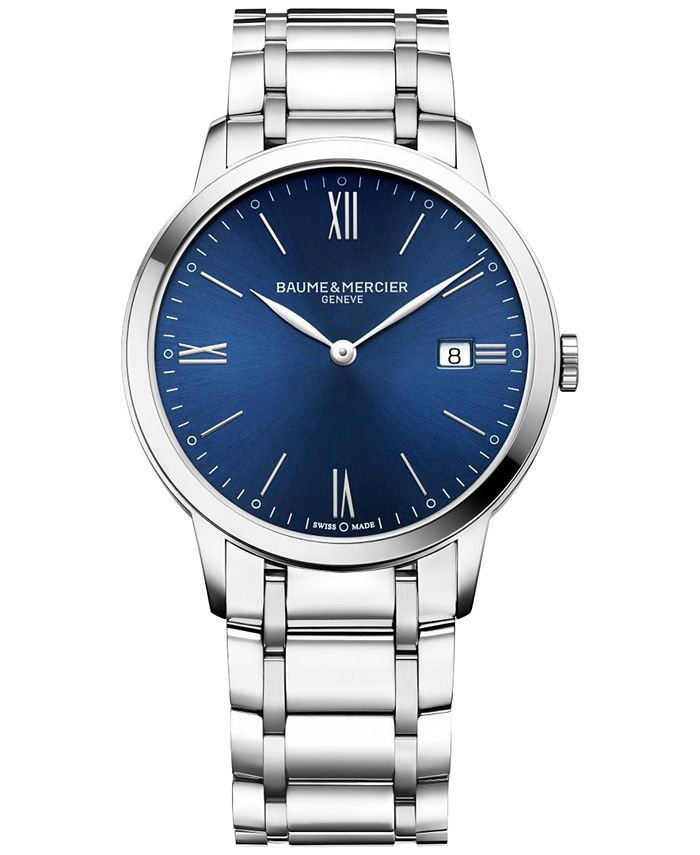 Baume & Mercier - Men's Swiss Classima Stainless Steel Bracelet Watch 40mm M0A10382