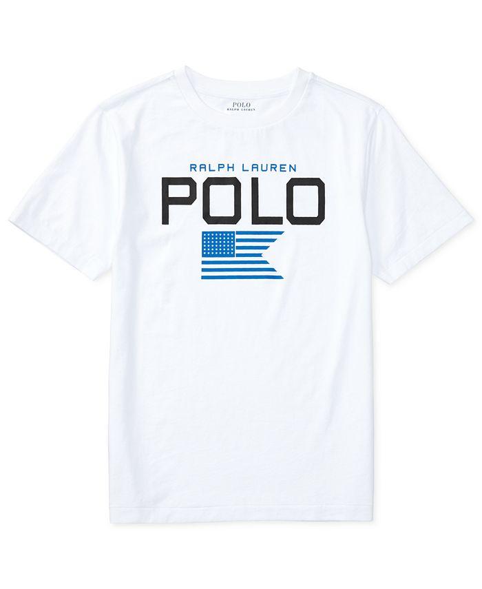 Polo Ralph Lauren - Crew-Neck Graphic-Print Short-Sleeve Jersey T-Shirt, Big Boys (8-20)