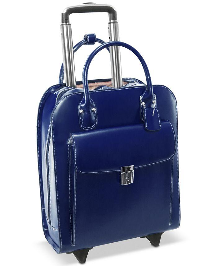 McKlein - Uptown Leather Wheeled Laptop Briefcase