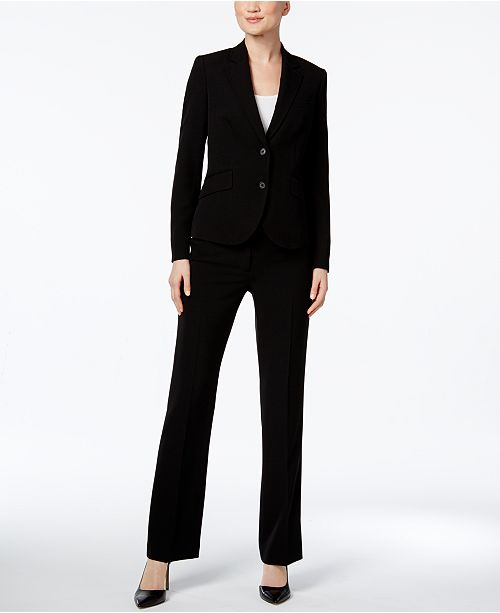 black womans suit Anne Klein Executive Collection 3-Pc. Pants and Skirt Suit Set, Created for  Macy's & Reviews - Wear to Work - Women - Macy's