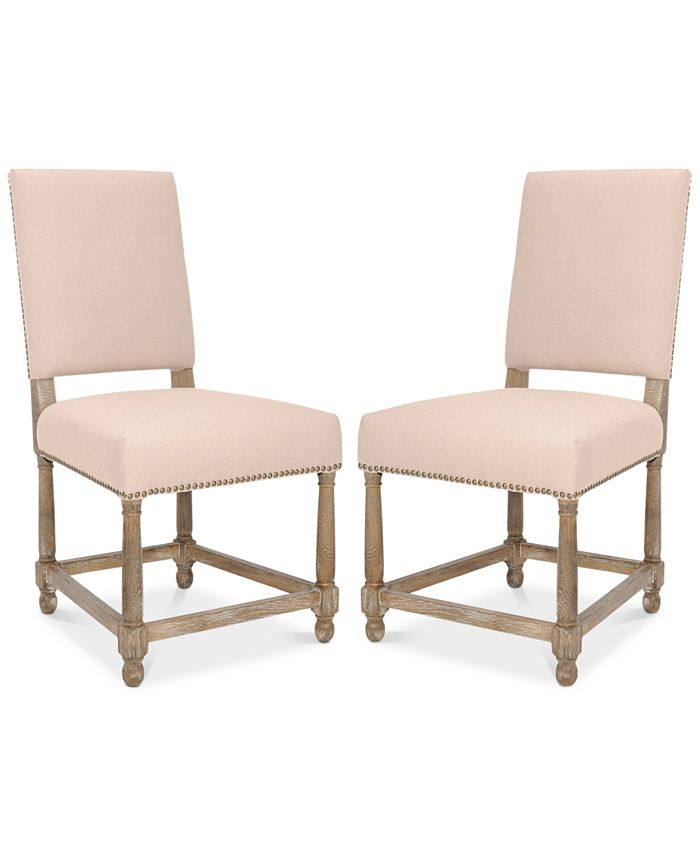 Safavieh - Harlen Set of 2 Dining Chairs, Quick Ship