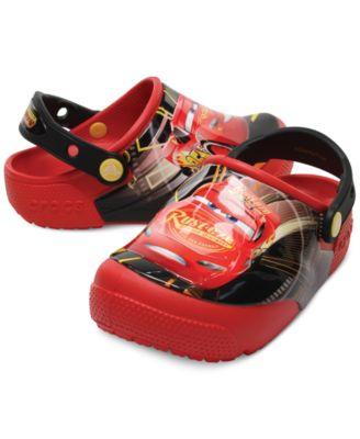 Crocs Fun Lab Lights Cars Clogs, Baby