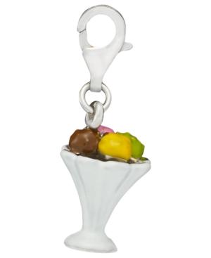 Sterling Silver Charm, Ice Cream Sundae Charm