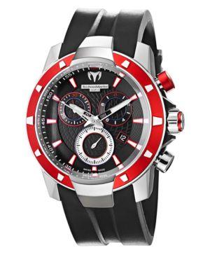 TechnoMarine Watch, Men's Chronograph UF6 Magnum 45mm Black Silicone Strap 609022