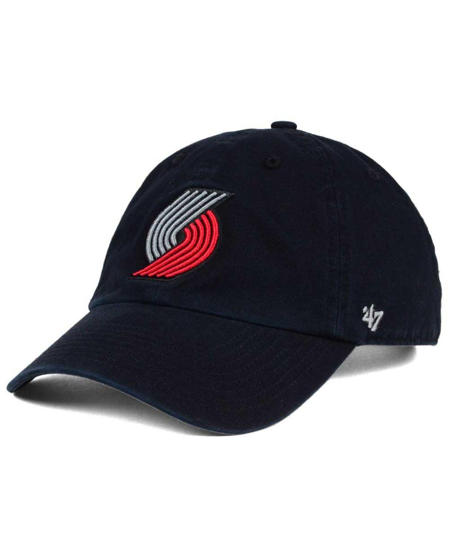 '47 Brand Portland Trail Blazers Clean Up Cap & Reviews - Sports Fan Shop By Lids - Men - Macy's