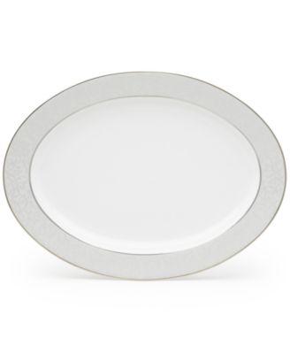 """Mikasa Parchment 14"""" Oval Platter"""