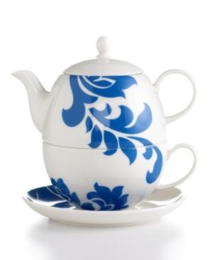 Martha Stewart Collection Dinnerware, Lisbon Blue Tea Set for One