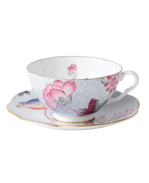 Wedgwood Dinnerware, Blue Cuckoo Teacup and Saucer