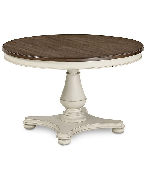 Furniture Barclay Expandable Round Dining Pedestal Table Reviews Furniture Macy S