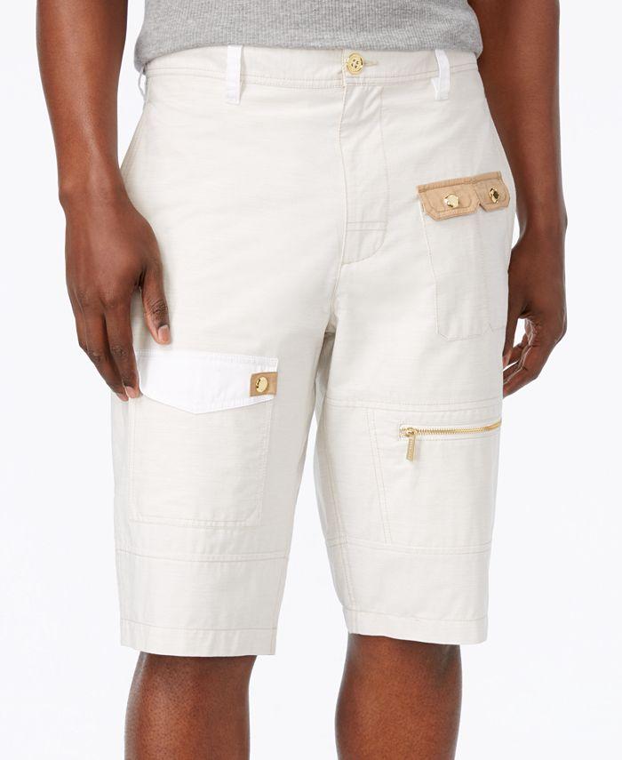 Sean John - Men's Poplin Cotton Cargo Shorts