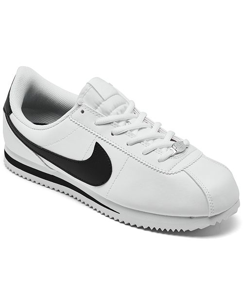 Nike Big Kids' Cortez Basic SL Casual Sneakers from Finish ...