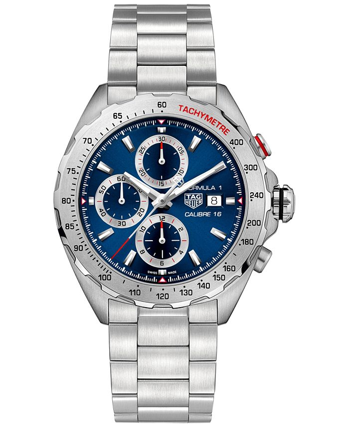 TAG Heuer - Men's Swiss Automatic/Chronograph Formula 1 Calibre 16 Stainless Steel Bracelet Watch 44mm