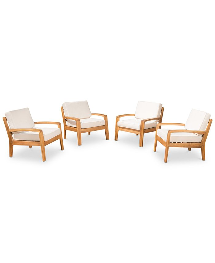 Noble House - Caylen Set of 4 Club Chairs, Quick Ship