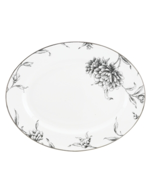 Marchesa by Lenox Dinnerware, Floral Illustrations Oval Platter